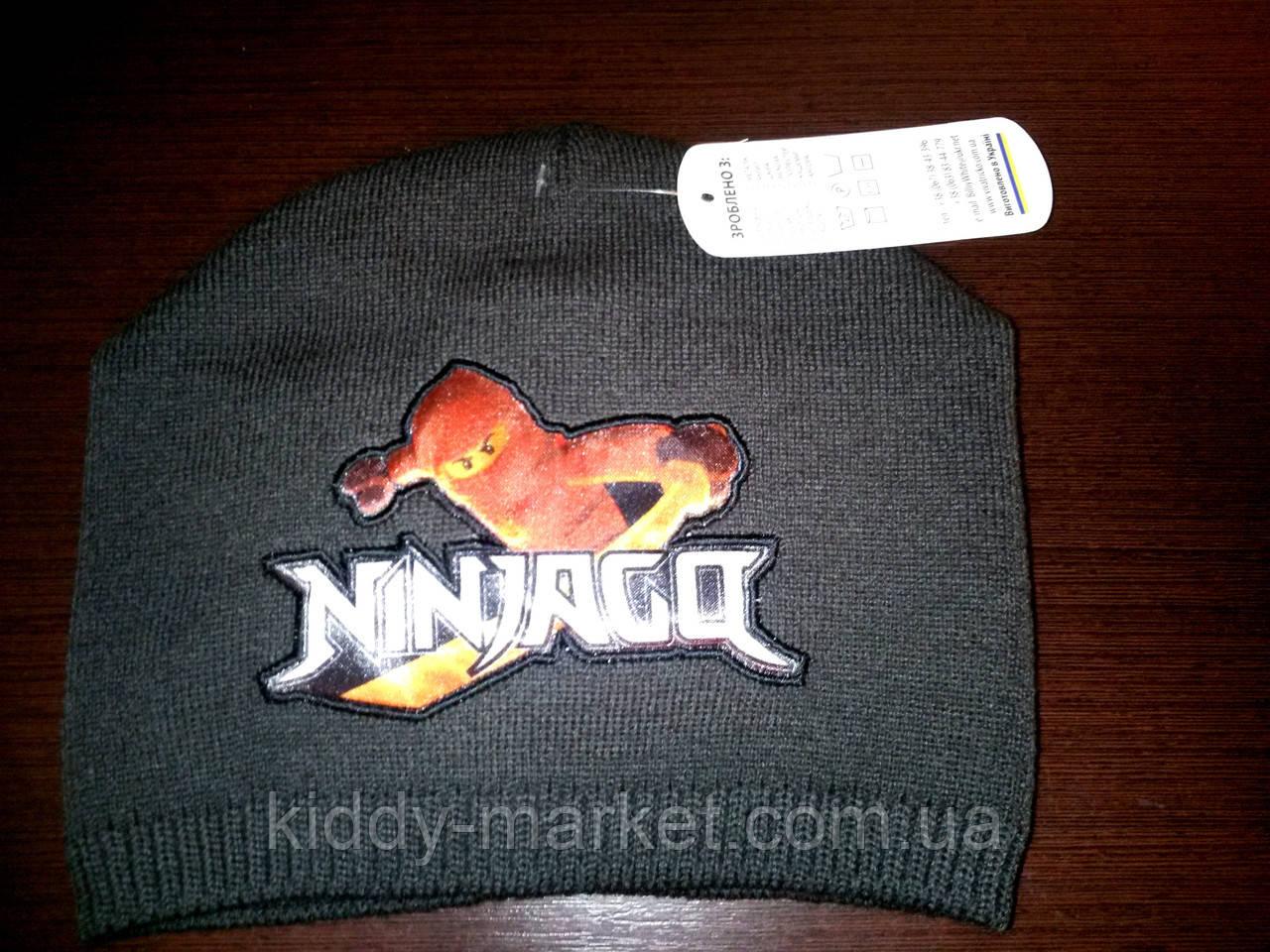 Шапка  детская  для мальчиков Ниндзя го. Ninjago