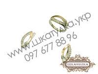 Серебряный гарнитур с золотом и цирконом №43о