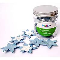 Цветы Heyda 94883390 голубой;белый 4,2см, 2.5см, 80шт набор бумажных цветов