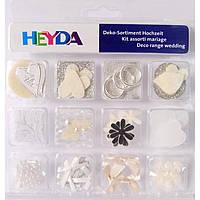 """Декор Heyda 94883272 12компл набор украшений для открыток """"Свадьба"""", 204883272,"""