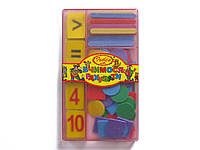 """Касса Irbis """"Вчимося рахувати"""" (счетные палочки+разноцветные геом. фигуры+цифры от 1 до 10)"""