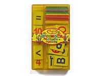 "Касса Irbis ""Вчимося рахувати та читати""  (счетные палочки + цифры от 1 до 10 + алфавит укр. букв)"