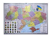 Ипт 45х65 Украина. Административное разделение (картон) М1:2350000