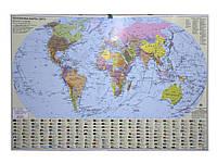 Ипт 45х65 Мир. Политическая карта (картон) М1:54000000