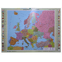 Карта настенная Ипт 77х110 Европа. Политическая карта (ламин) М1:5400000