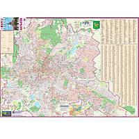 Карта настенная Ипт 97х134 Харьков. План города с каждым домом (ламин) М1:19000