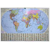 Карта настенная Ипт 110х160 Мир. Политическая карта (картон) М1:22000000