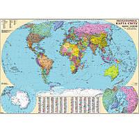 Карта настенная Ипт 110х160 Мир. Политическая карта (ламин) М1:22000000