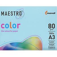 """Бумага пастельных тонов Mondi 150776 голубой А3 80гр 500ар """"MC Pastell""""MB30 паст"""