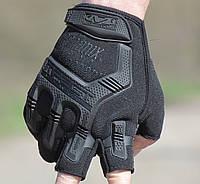 Перчатки Mechanix M-Pact(чёрные), полупалые, защита костяшек