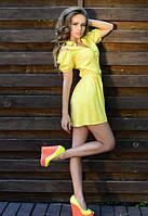 Летнее лимонное платье