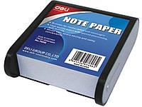 Блоки бумажные Deli 7606Е серо/черный 8,7*9,14 в пласт
