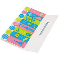 Блоки бумажные самоклеющиеся Deli 6404 микс 12х45мм 15лх8шт пласт с рисунком
