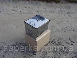 Коптильня с гидрозатвором из нержавеющей стали (400х310х280х1,5мм), фото 3