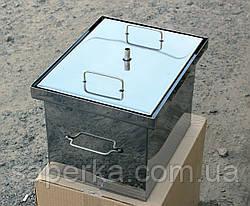 Коптильня с гидрозатвором из нержавеющей стали (400х310х280х1,5мм), фото 2