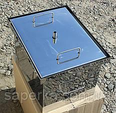 Коптильня с гидрозатвором из нержавеющей стали (400х310х280х1,5мм)