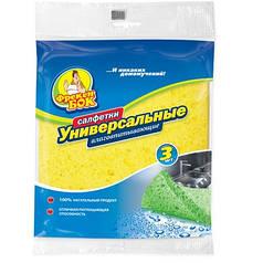 Целлюлозные салфетки для уборки Универсальные  3 шт