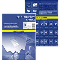 Этикетки листовые Buromax 2870 114,5мм CD 2шт (100л)