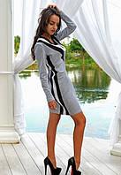 Платье из двунитки цвета меланж