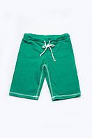 Длинные детские шорты для мальчиков зеленые (поло)