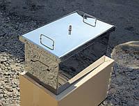 Коптильня большая с гидрозатвором из нержавеющей стали (520x310x280х1,5мм)