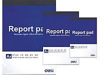 Блокнот мягкая обложка Deli 7711 А4 70л склейка, белые листы, сменный блок для папок