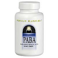ПАБК (PABA) Source Naturals, 100 мг, 250 таблеток