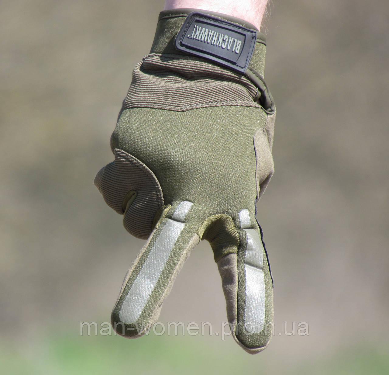 Перчатки тактические BLACKHAWK (Блэкхоук). Олива