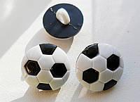 Пуговица пластиковая, декоративная. Футбольный мяч