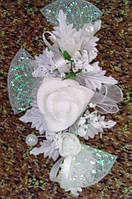 Свадебная бутоньерка-веточка (белая)