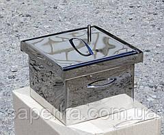 Мини коптильня из нержавеющей стали (300х300х200), фото 2