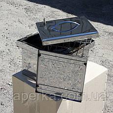 Мини коптильня из нержавеющей стали (300х300х200), фото 3