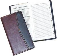 Алфавитная книжка Бриск ЗВ-31-C А6 72л кож зам Стандарт с алф 90х170
