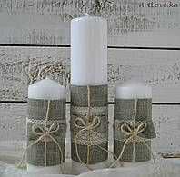 Свадебные свечи Рустик