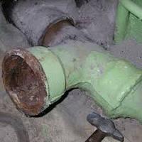 Демонтаж чугунных труб канализации