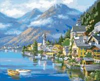 "Рисование по номерам на холсте ""Австрийский пейзаж"" 40*50 см. Идейка"