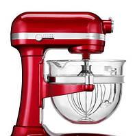 Планетарный миксер со стеклянной чашей KitchenAid Artisan IKSM6521XEER 6.0 л, красный карамельное яблоко