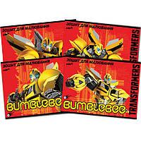 """Альбом для рисования Kite TF14-241K 12 листов А4 """"Transformers"""" УФ-лак"""