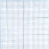 Бумага масштабно-координатная * ПМ/А3 голубая папка А-3 20л