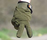 Перчатки тактические 5.11 (tactical series). Олива, фото 1