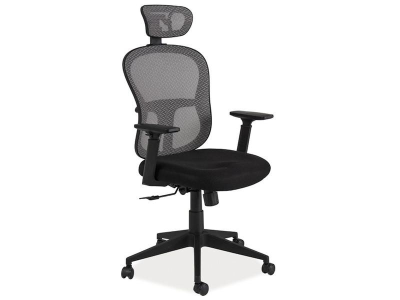 Офисное кресло Q-116 черно-серое