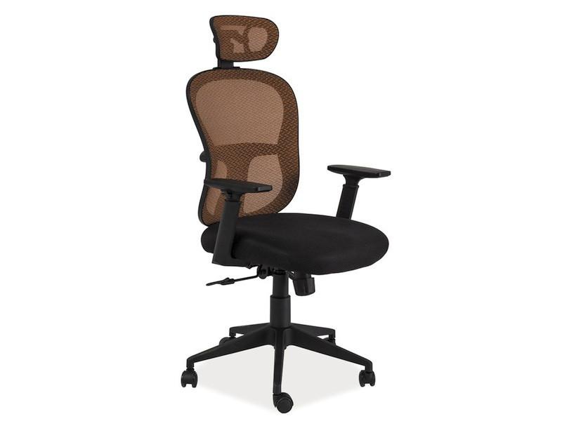 Офисное кресло Q-116 черно-оранжевое