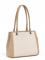 Красивая кожаная сумка женская светлая 12731A2-W3