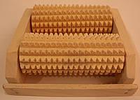 Массажер деревянный для ног на 2 валика
