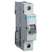 Автоматический выключатель Hager MB106A. Iн=6А, хар-ка B