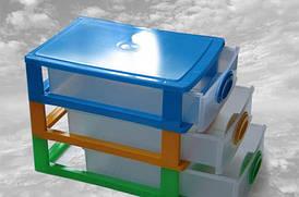 Міні-комод на 3 відділення, органайзер пластиковий
