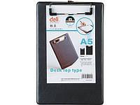 Планшет Deli 9245 черный А5 покр ПВХ мет/клип