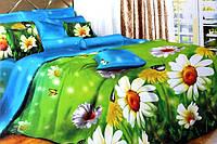 Полуторное постельное белье  Лилия с HD эффектом ромашки