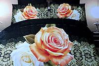 Постельное полуторное белье Лилия с HD эффектом - на темном цветы
