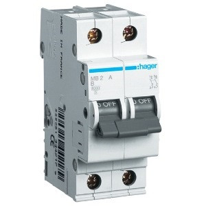 Автоматический выключатель Hager MB263A. Iн=63А, хар-ка B